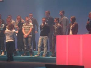 podium des médaillés 2014 à BREST